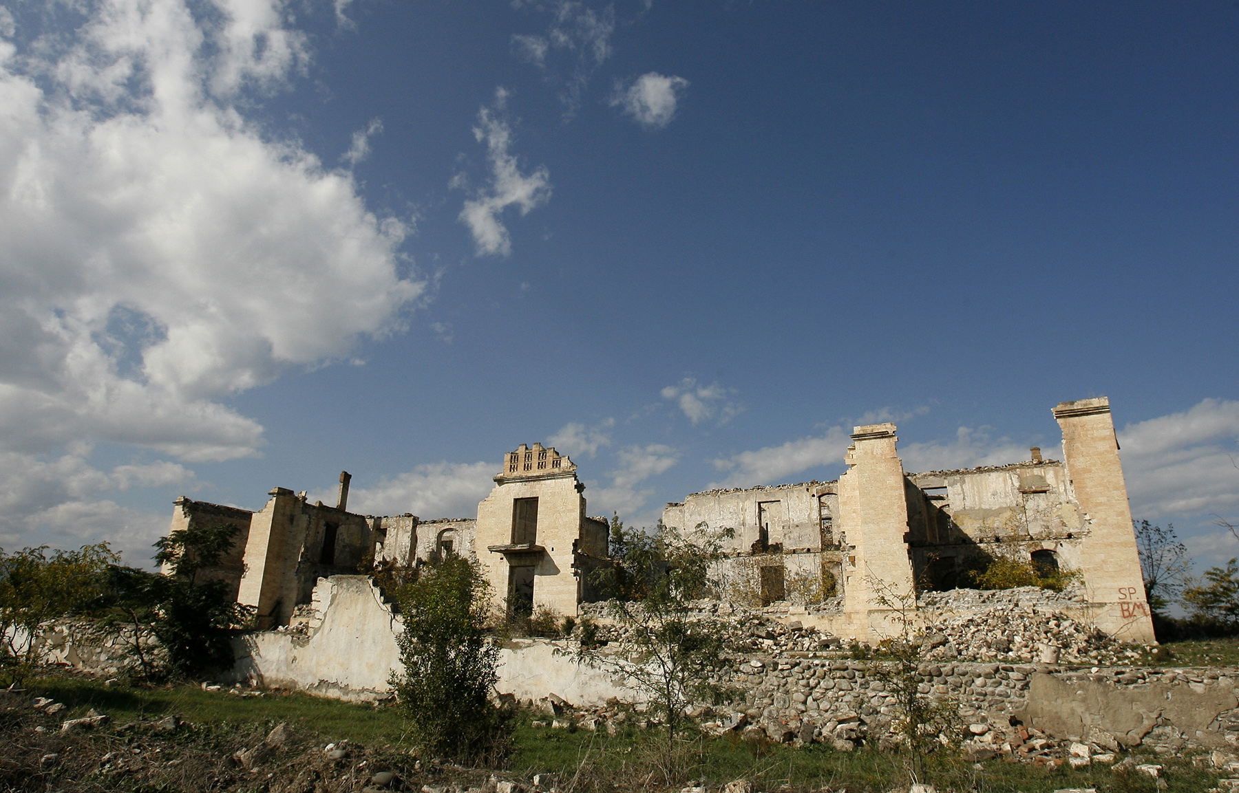 Ruins in the town of Agdam