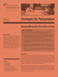 Strategies for Policymakers on Bringing Women into Peace Negotiations (Institute for Inclusive Security)