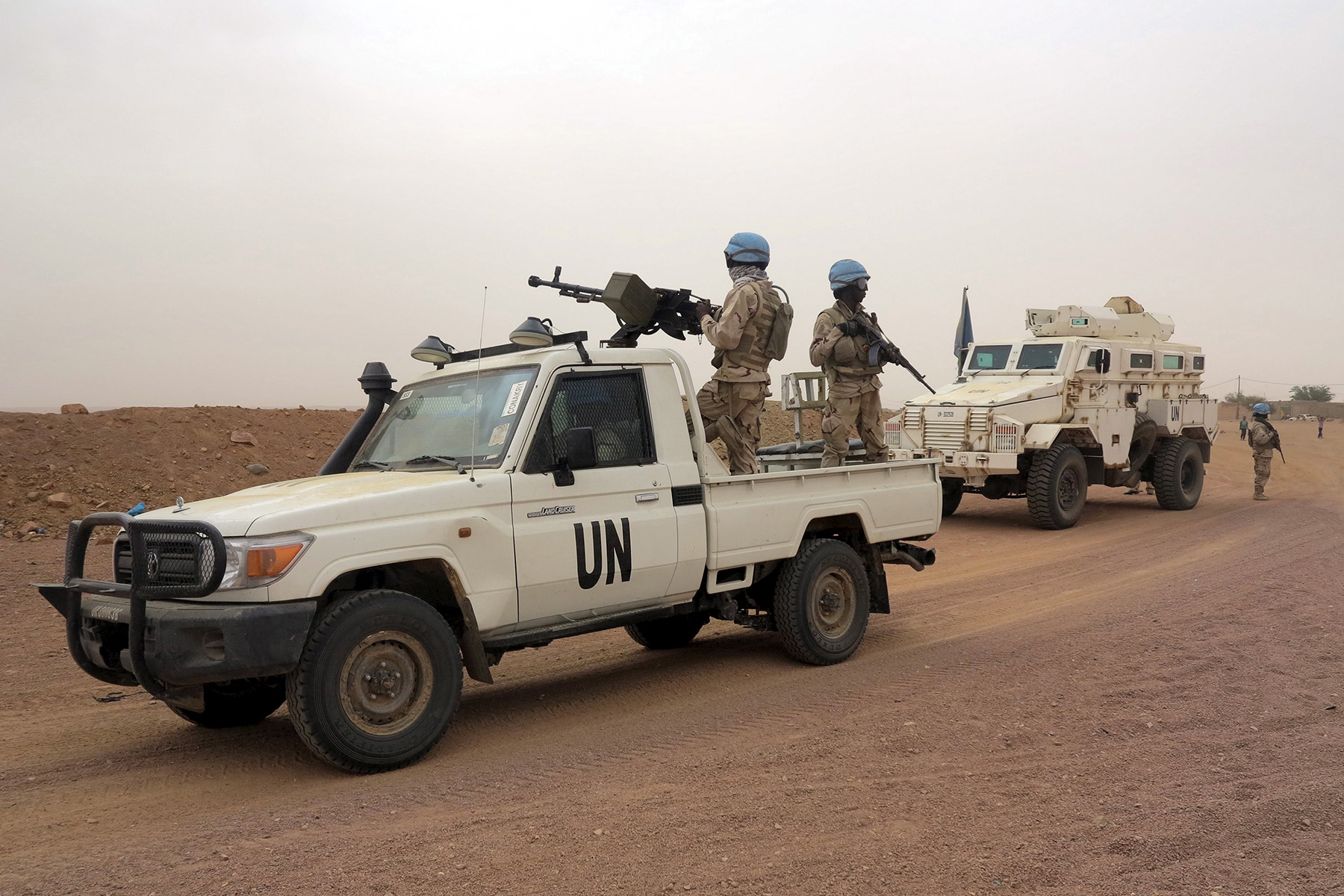 UN peacekeepers patrol in Kidal.